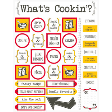 SRM Press Inc. - Cooking Collection - Stickers - Live Life - What's Cookin'