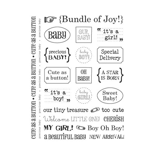 SRM Press Inc. - Card Collection - Stickers - Sentiments - Baby