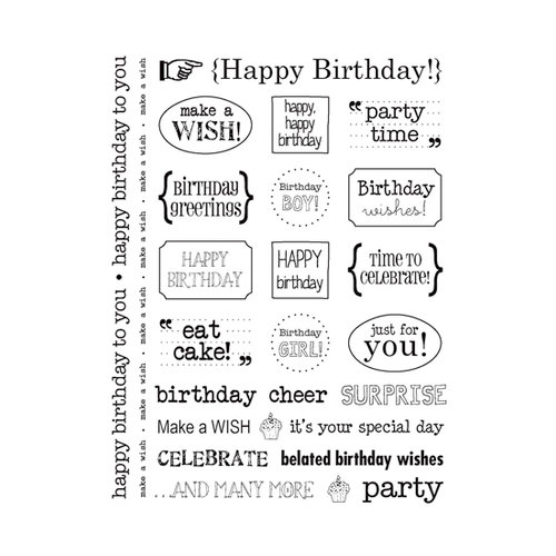 SRM Press Inc. - Card Collection - Stickers - Sentiments - Birthday