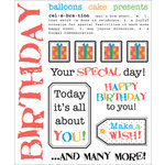 S.R.M. Press, Inc. - Stickers - Say It With Stickers - Birthday