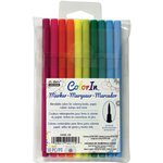 Marvy Uchida - Color In - Markers - Brush Point - Bright - 10 Pack