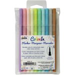 Marvy Uchida - Color In - Markers - Brush Point - Pastel - 10 Pack