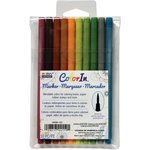 Marvy Uchida - Color In - Markers - Brush Point - Natural - 10 Pack