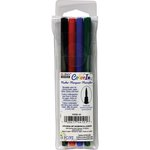 Marvy Uchida - Color In - Markers - Brush Point - Primary - 4 Pack