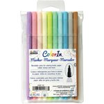 Marvy Uchida - Color In - Markers - Fine Point - Pastel - 10 Pack