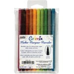 Marvy Uchida - Color In - Markers - Fine Point - Natural - 10 Pack