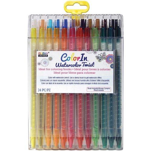 Marvy Uchida - Color In - Watercolor Twist - Pencils - 24 Pack