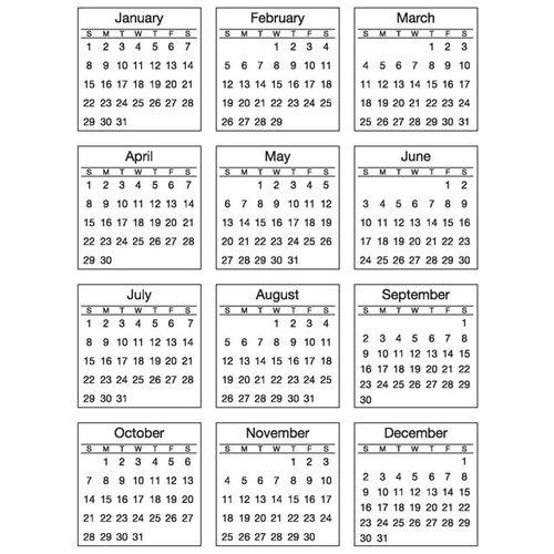 SRM Press Inc. - Stickers - Mini Calendar - Standard