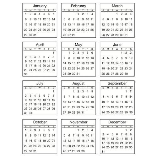 SRM Press - Stickers - Mini Calendar - Standard - 2017