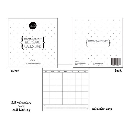 SRM Press Inc. - 8 x 8 Blank Keepsake Calendar - Year of Memories