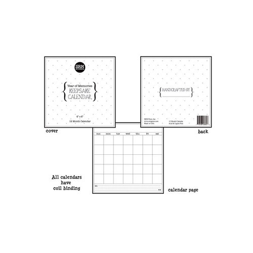 SRM Press Inc. - 6 x 6 Blank Keepsake Calendar - Year of Memories