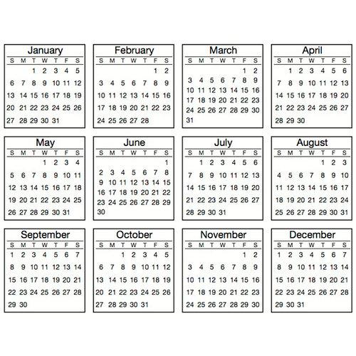 Tiny Calendar.Srm Press Inc Stickers Tiny Calendars 2013