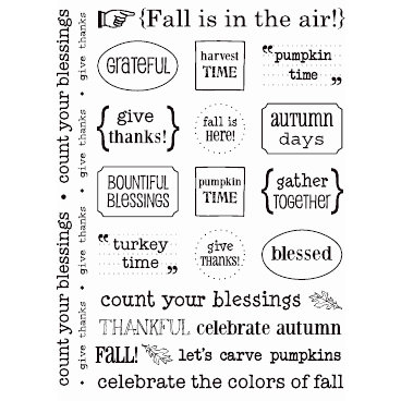 SRM Press Inc. - Card Collection - Stickers - Sentiments - Fall