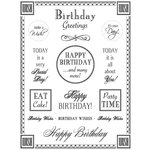 SRM Press Inc. - Card Collection - Stickers - Fancy Sentiments - Birthday