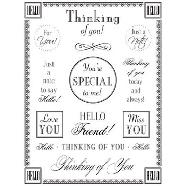 SRM Press Inc. - Card Collection - Stickers - Fancy Sentiments - Thinking of You