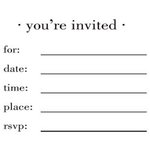 SRM Press Inc. - Stickers - You're Invited - Blank Invite