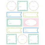 SRM Press Inc. - Stickers - Labels by the Dozen - Everyday Pastels
