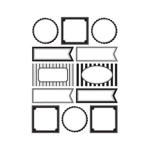 SRM Press Inc. - Stickers - Labels by the Dozen - Black and White Blank