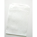 SRM Press Inc. - Embossed Glassine 3.75 x 6.25 Bags - Chevron