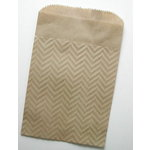 SRM Press Inc. - Embossed Kraft 5 x 7 Bags - Chevron
