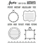 SRM Press - Clear Acrylic Stamps - Amen Frames