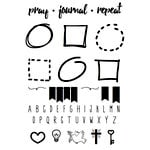 SRM Press - Clear Acrylic Stamps - Pray, Journal, Repeat