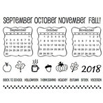 SRM Press - Clear Acrylic Stamps - Fall Plans