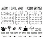 SRM Press - Clear Acrylic Stamps - Spring Plans