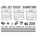 SRM Press - Clear Acrylic Stamps - Summer Plans