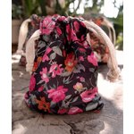SRM Press - Floral Bags - Black and Pink