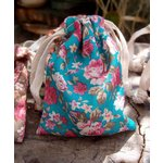 SRM Press - Floral Bags - Turquoise