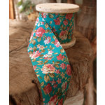 SRM Press - Floral Ribbon - Turquoise