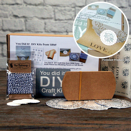 SRM Press Inc. - DIY Craft Kit - Wedding Kraft Pillow Box