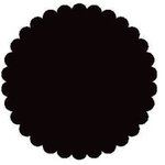 SRM Press Inc. - Punched Pieces - Small Scalloped Circle - Black