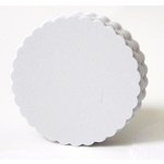 SRM Press Inc. - Punched Pieces - Medium Scalloped Circle - White