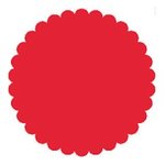 SRM Press Inc. - Punched Pieces - Medium Scalloped Circle - Red