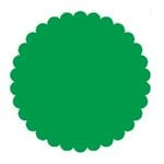 SRM Press Inc. - Punched Pieces - Small Scalloped Circle - Green