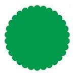 SRM Press Inc. - Punched Pieces - Large Scalloped Circle - Green