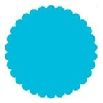 SRM Press Inc. - Punched Pieces - Medium Scalloped Circle - Teal