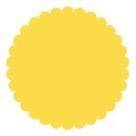 SRM Press Inc. - Punched Pieces - Medium Scalloped Circle - Yellow