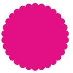 SRM Press Inc. - Punched Pieces - Medium Scalloped Circle - Hot Pink