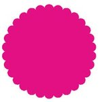 SRM Press Inc. - Punched Pieces - Large Scalloped Circle - Hot Pink