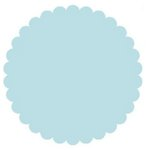 SRM Press Inc. - Punched Pieces - Large Scalloped Circle - Baby Blue