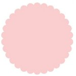 SRM Press Inc. - Punched Pieces - Small Scalloped Circle - Baby Pink