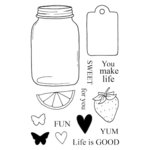 SRM Press - Jane's Doodles Stamp - Life is Good