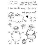 SRM Press - Jane's Doodles Stamp - Seamus Sheep