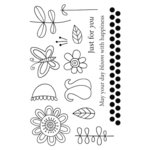 SRM Press - Jane's Doodles Stamp - Doodle Flowers