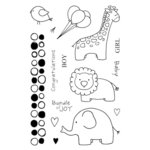 SRM Press - Jane's Doodles Stamp - Baby Jungle