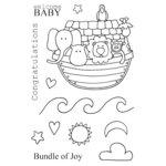 SRM Press - Jane's Doodles Stamp - Noah's Ark