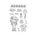 SRM Press - Jane's Doodles Stamp - Little Miss Mia